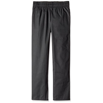 Uncommon Threads 4000-0103 Classic Basic Baggy Chef Pant with 3'' Elastic Waist in Black - Medium