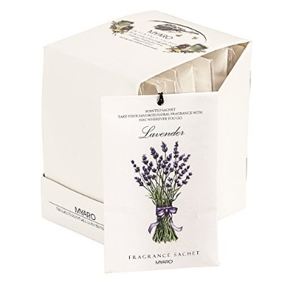 (Lavender) - MYARO MR-01 12 Packs Lavender Scented Sachets for Drawer and Closet Best Gift