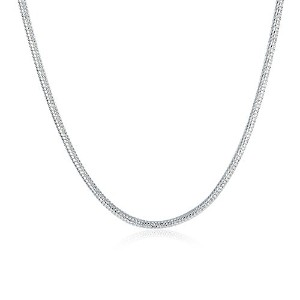 ttvovo 925スターリングシルバー1mm / 2mm Snake /ボックス/ Twisted Rope /リンクチェーン–イタリアCraftedネックレス–スーパーシン&...