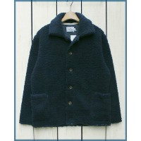 Arvor Maree men Boa Fleece Jacket / pile button Navy / made in JAPAN アルボー マレー ボア フリース ジャケット / パイル...