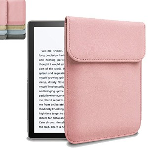 Vicstar All-New Kindle oasis 2017 ケース ノートバッグ パソコンバッグ 保護用バッグ マグネットクラスプ付き 高級レザー 本革布地 衝撃吸収 スリム 四色可選択...