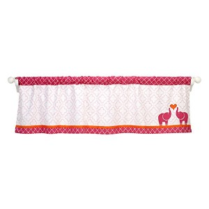 Happy Chic Baby Jonathan Adler Party Elephant Valance, Pink/Orange/White by Happy Chic Baby...