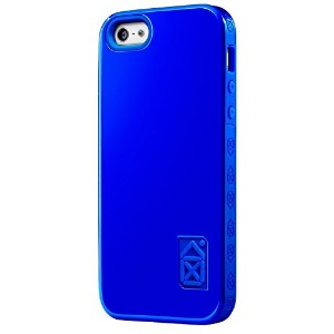 Case Scenario CS-IPH5-P02 Skin and Bone Protective Cover for iPhone 5 - Retail Packaging - Blue ...