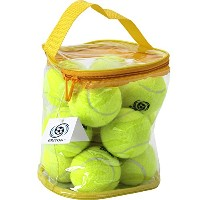 Pressureless Tennis Balls 12パックwith Carryingバッグ、頑丈な&丈夫、長持ち–Greatレッスン、練習、投げマシン& Playing withペットby...