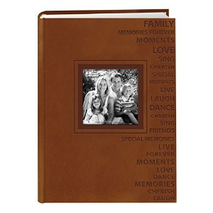 Pioneer Photo Albums 300-Pocket 4 by 6-Inch Embossed Words Design Leatherette Two-Tone Frame Cover...