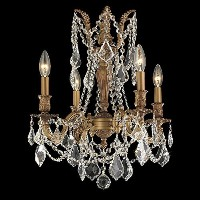 Worldwide Lighting W83303FG17-CL Windsor Chandelier with Clear Crystal, French Gold Finish by...