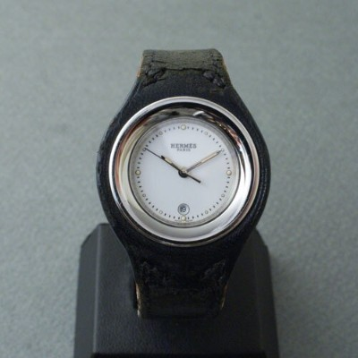 【中古】HERMES HARNAIS LADIES(HA1.210) BLACK