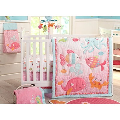 Carter's Sea Collection 4 Piece Crib Set, Pink/Blue/Turquoise by Carter's