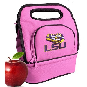 LSU Tigers LunchバッグキュートLSU Lunch Tote for Girls &レディース