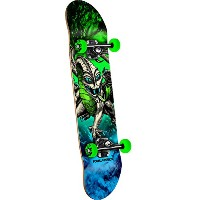 Powell-Peralta Mini Cab Dragon Storm Complete Skateboard, Green by Powell-Peralta
