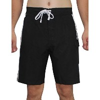 Pit Steelers Mens Athletic Sports Shorts with Swim裏地 XL ブラック