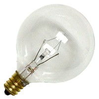 Bulbrite 60G16CL3 60W G16 Globe 130V Candelabra Light Bulb, Clear [並行輸入品]
