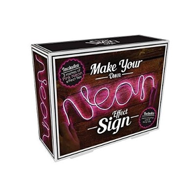 (Pink) - Make Your Own Neon Effect Sign 3M Neon String Light Message Kit (Pink)