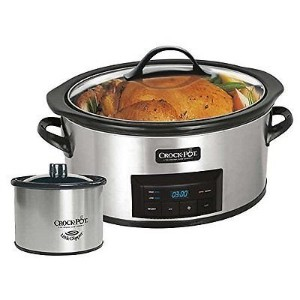 Crock Pot Model: Sccpvc609-nc1 W/ Little Dipper Warmer - Stainless Steel クロック ポット スロー クッカー ステンレス...