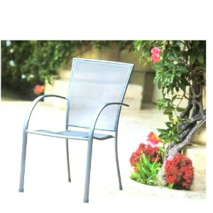 Stacking Bistro Chair SteelMicro Mesh Chair 屋外用イス