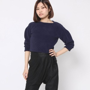 【SALE 85%OFF】オペーク  OPAQUE outlet J W ANDERSON ショート丈ニット (ネイビー)