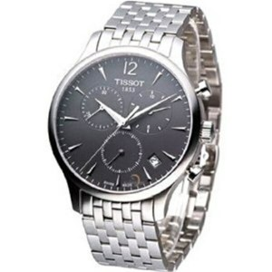 ティソ Tissot 腕時計 メンズ 時計 Tissot Men's T063.617.11.067.00 Charcoal Dial Tradition Watch