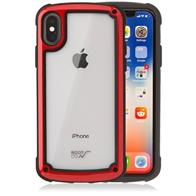 【ROOT CO.】iPhoneX ケース 耐衝撃 Gravity Shock Resist Tough & Basic Case.(レッド)