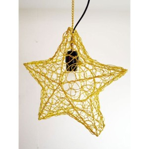 【SALE 50%OFF】【チャイハネ】STAR HANGING LAMP イエロー