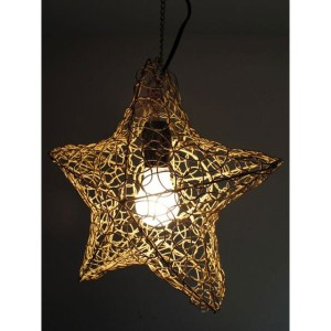 【SALE 10%OFF】【チャイハネ】STAR HANGING LAMP ベージュ