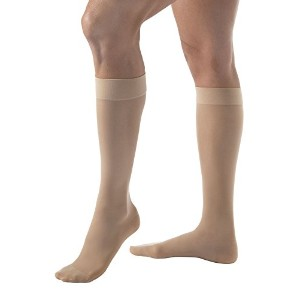 Women's Ultrasheer 15-20 mmHg Closed Toe Knee High Support Sock Size: X-Large Full Calf, Color:...