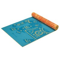 Gaiam Print Premium Reversible Yoga Mat, 5 mm, Elephant [並行輸入品]