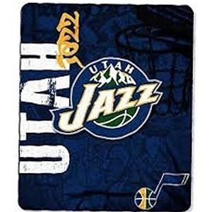 "NBA公式ライセンスUtah Jazzサイドバー50 "" x60 "" Fleece Throw Blanket"