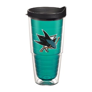 "Tervis 1080778 "" NHL San Jose Sharks "" Tumbler withブラック蓋、エンブレム、24オンス、エメラルド"