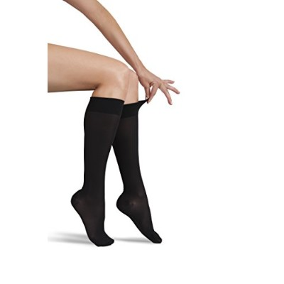 ITA-MED Sheer Knee Highs, Compression(20-22 mmHg), Black, Medium by ITA-MED