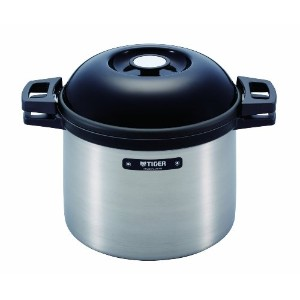 TIGER NFH-G450 Non-Electric Thermal Slow Cooker 4.75qts / 4.5L, Silver [並行輸入品]