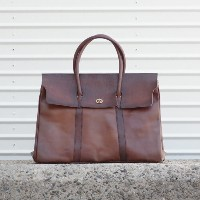 vasco LEATHER NELSON SADDLE BAG BROWN