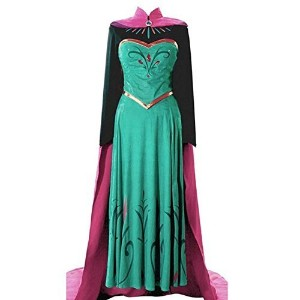 (アナと雪の女王 エルサ風ドレス) Adult Elsa Coronation Dress Halloween Costume Disney Frozen Inspired Cosplay S-XXl