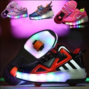 Best Gift Roller Shoes wheel  skating shoes kids wheels Sneakers Girls Boys toys light play Children