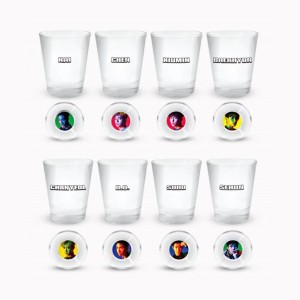 SM Town EXO THE WAR Repackage The Power Of Music Official Mini Glass Set