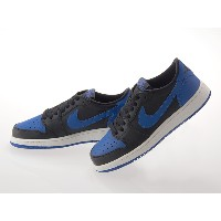 [ナイキ] NIKE AIR JORDAN 1 RETRO LOW OG BG LADIES エア ジョーダン 1 レトロ ロー ガールズ BLACK/VARSITY ROYAL#709999-004