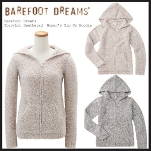 【2016秋新発売】 ベアフットドリームス パーカー Barefoot Dreams Cozychic Heathered  Women s Zip Up Hoodie [ #665 ]