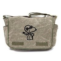Crazy baby clothing / Snoopy Flying Ace Heavyweight Canvas Messenger Diaper Shoulder Bag