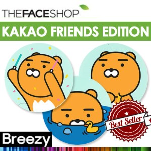 BREEZY]★ Kakao Friends Edition [THE FACE SHOP] Oil Control water / CC Intense cover cushion / CC...
