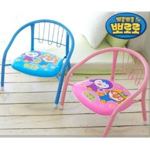 Pororo cute chairs ke-37/ iron chairs / toddler chair / Pororo couch / sofa infant / child seat /