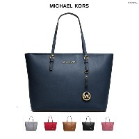 [マイケルマイケルコース] MICHAEL KORS Jet Set Travel Saffiano Leather Top-Zip Tote 30S4GTVT2L [並行輸入品]