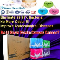 3 Months Supply/LOZES Angel 3 in 1 Anti-Bacteria multi-functional sanitary napkin pad Negatives Ion/