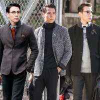 ★ALL NEW WINTER STYLE★MENS WARM WOOL JACKET / CHECK/ QUILTING