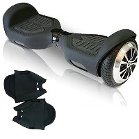 Silicone Case for Swagtron T1 Hoverboard Electric Self Balancing Scooter Scratch Protector (black)