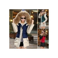 Long Design Thick Fur Hooded Thick Coat Winter Women Down Jackets 2016 New Warm Cotton Wadded Ladies