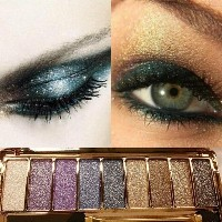 9 Colors Diamond Makeup Eyeshadow Naked Smoky Palette Make Up Set Eye Shadow Maquillage Glitter...