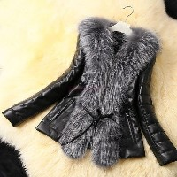 Autumn Spring and Winter Silver Faux Fox Fur Coat Jacket Outerwear Womens Fashion Short Coat...