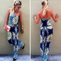 Sexy Women Summer Strapless Playsuits Party Evenig Jumpsuit Shorts Dresses