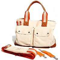 [アメリカ直送]Diaper bag by Babyboo - Signature - w/ Baby Changing Pad & Stroller Straps - Cute design -...