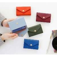 [Pinco Shop]カードポケット●名刺入れ●カードケースiConic Post Card Holder - Button Flap Business Name Card Credit Card