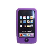 Msfort iPod Touch 2/3 【第2世代/第3世代】シリコンケース iPod Touch 2/3 Silicone Case (パープル)